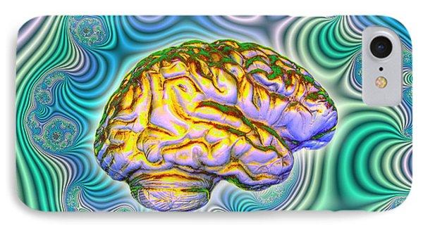 The Brain IPhone Case by Dennis D. Potokar
