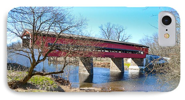 The Brandywine Creek And Smith's Covered Bridge IPhone Case by Bill Cannon