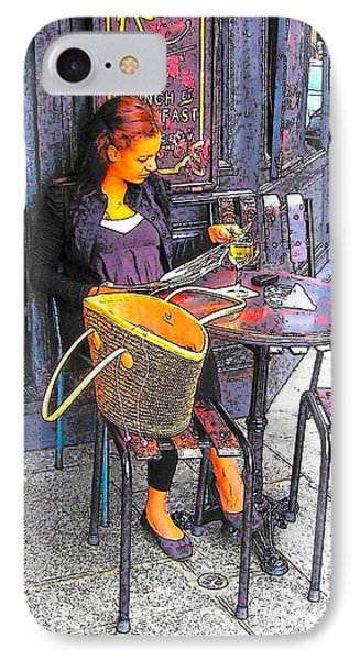 The Brasserie In Paris IPhone Case by Jan Matson