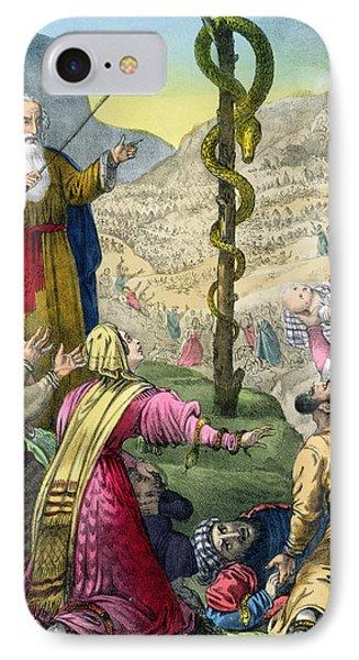 The Brazen Serpent, From A Bible IPhone Case by Siegfried Detler Bendixen