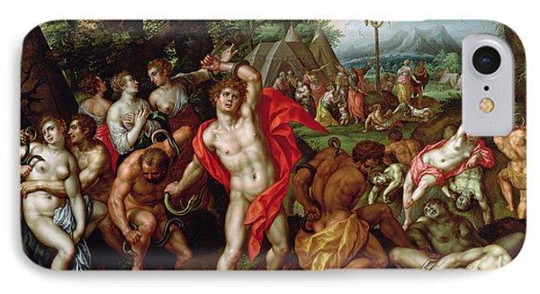 Punishment iPhone 7 Case - The Brazen Serpent by Hendrik de Clerck