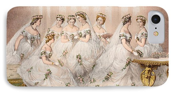 The Bridesmaids, 10th March, 1863 - Marriage Of Edward Vii And Alexandra Of Denmark IPhone Case by English School