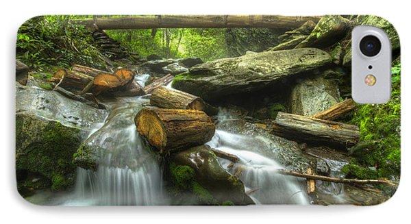 The Bridge At Alum Cave IPhone Case by Debra and Dave Vanderlaan