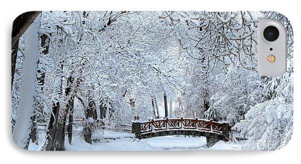 The Bridge In Winter IPhone Case