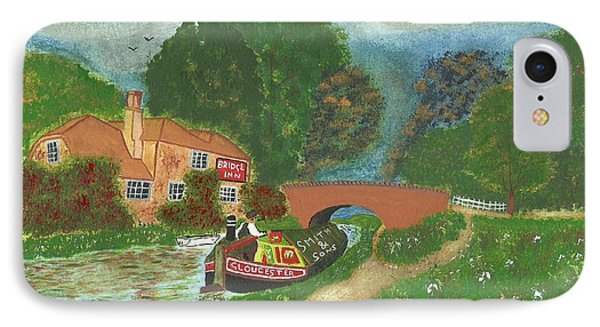 IPhone Case featuring the painting The Bridge Inn by John Williams
