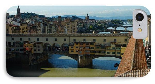 The Bridges Of Florence Italy Phone Case by Georgia Mizuleva
