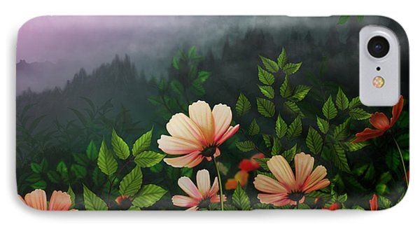 The Brighter Side Of The Dark Mountains Phone Case by Bedros Awak