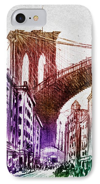 The Brooklyn Bridge IPhone Case by Aged Pixel