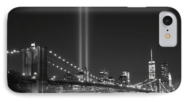 The Brooklyn Bridge Bnw IPhone Case by Michael Ver Sprill