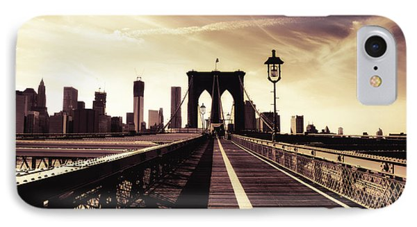 The Brooklyn Bridge - New York City IPhone 7 Case