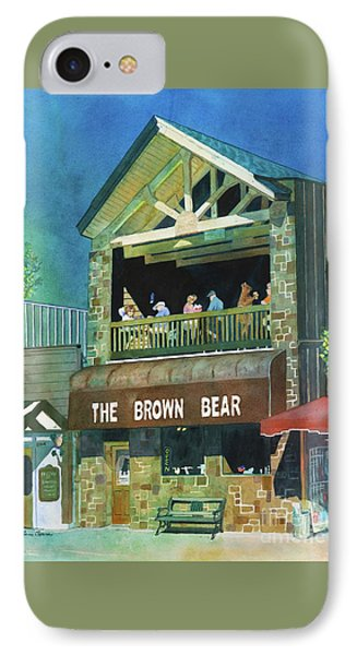 IPhone Case featuring the painting The Brown Bear by LeAnne Sowa