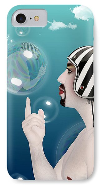 the Bubble man IPhone Case by Mark Ashkenazi