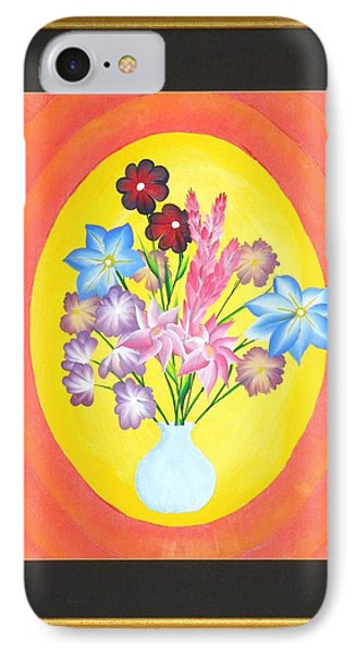 IPhone Case featuring the painting The Bud Vase by Ron Davidson
