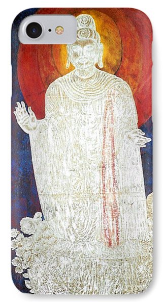 IPhone Case featuring the painting The Buddha's Light by Fei A