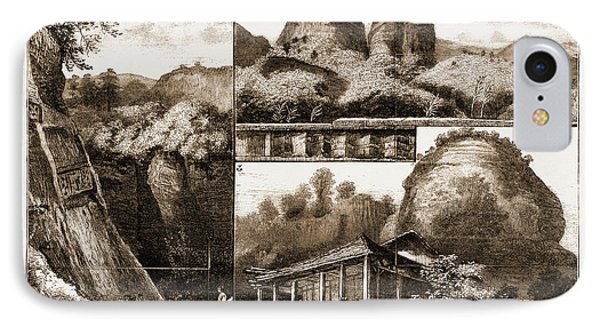 The Buddhist Monastery Of Tan Ha Shan, Or Red Cloud Mountain IPhone Case by Litz Collection