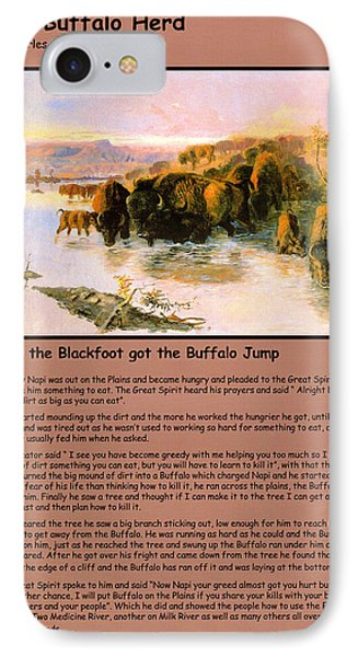 The Buffalo Heard  IPhone Case by Charles Russell