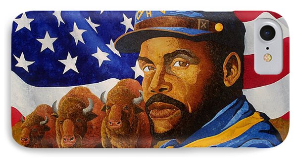 The Buffalo Soldier IPhone Case by William Roby