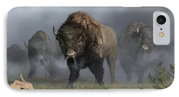 The Buffalo Vanguard IPhone Case by Daniel Eskridge
