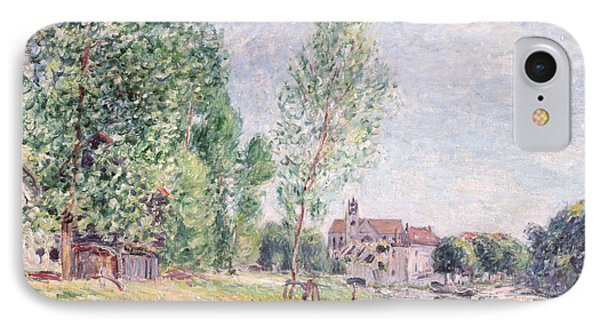 The Builder's Yard At Matrat Moret-sur-loing Phone Case by Alfred Sisley