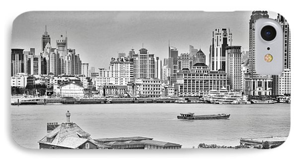 Shanghai iPhone 7 Case - The Bund by Delphimages Photo Creations