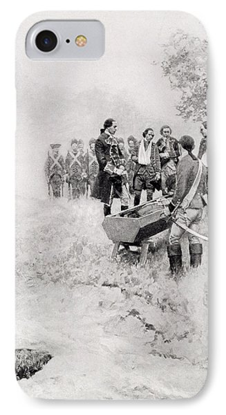 The Burial Of Braddock, Illustration From Colonel Washington By Woodrow Wilson, Pub. In Harpers IPhone Case