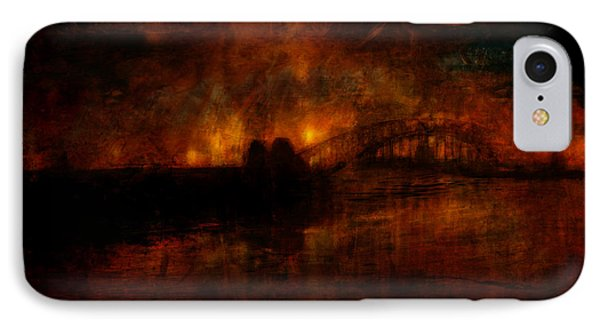 The Burning Of Sydney IPhone Case by Kim Gauge