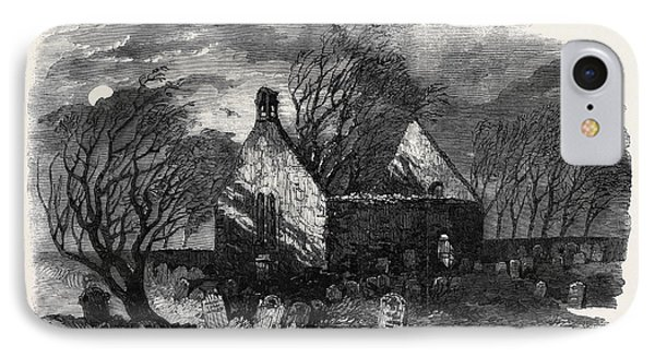 The Burns Centenary Alloways Auld Haunted Kirk IPhone Case