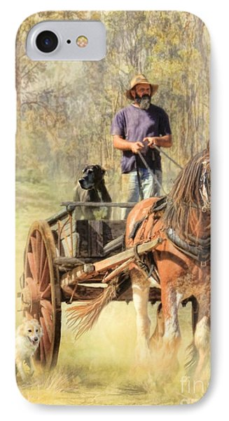 The Bushmans Track IPhone Case by Trudi Simmonds