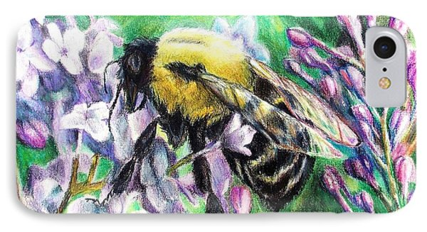 The Busy Bee And The Lilac Tree IPhone Case by Shana Rowe Jackson