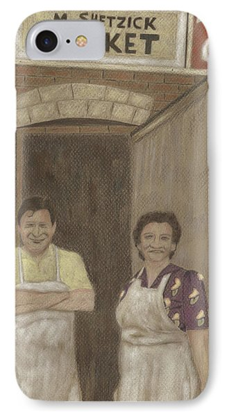 The Butcher And His Wife  IPhone Case by Arlene Crafton