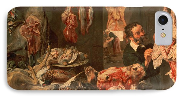 The Butcher's Shop Phone Case by Frans Snyders