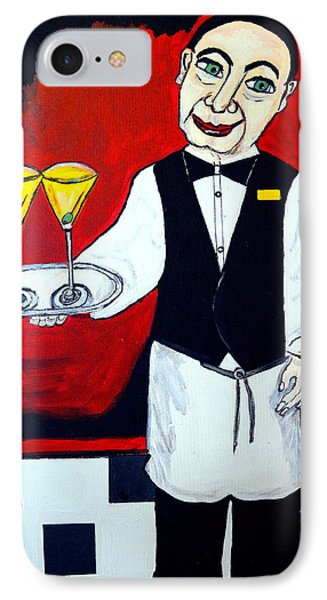 IPhone Case featuring the painting The Butler  by Nora Shepley