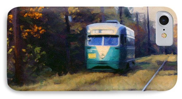 IPhone Case featuring the painting The Cabin John Trolley by Spyder Webb