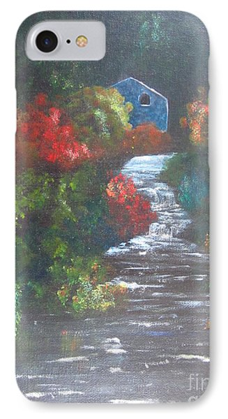 IPhone Case featuring the painting The Cabin by Laurianna Taylor