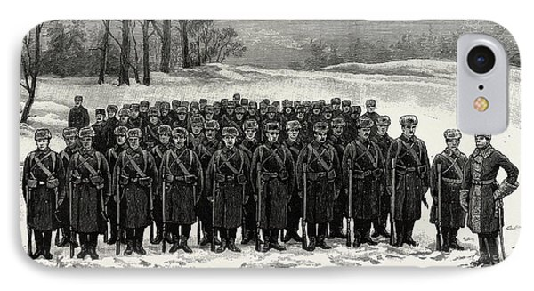 The Cadets In Winter -costume, British Naval Defences IPhone Case by Litz Collection