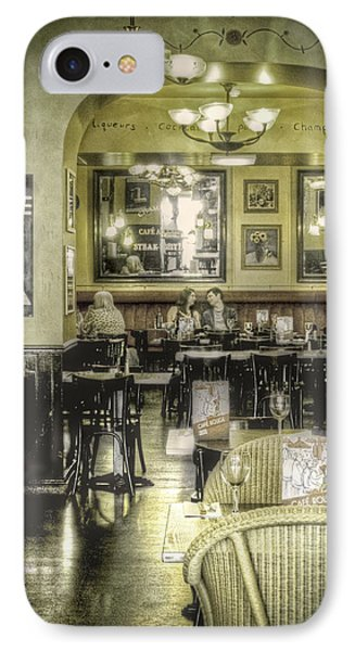 The Cafe Phone Case by Janet Meehan
