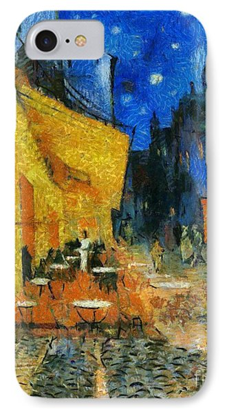 The Cafe Terrace After Van Gogh IPhone Case by Dragica  Micki Fortuna