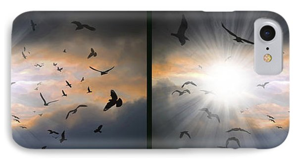 The Call - The Caw - Gently Cross Your Eyes And Focus On The Middle Image IPhone Case by Brian Wallace