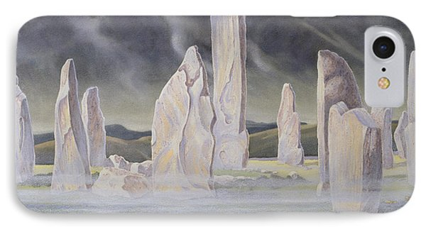 The Callanish Legend Isle Of Lewis IPhone Case by Evangeline Dickson