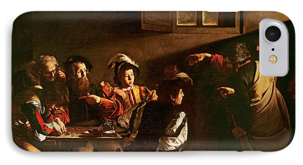 The Calling Of St Matthew IPhone Case by Michelangelo Merisi o Amerighi da Caravaggio