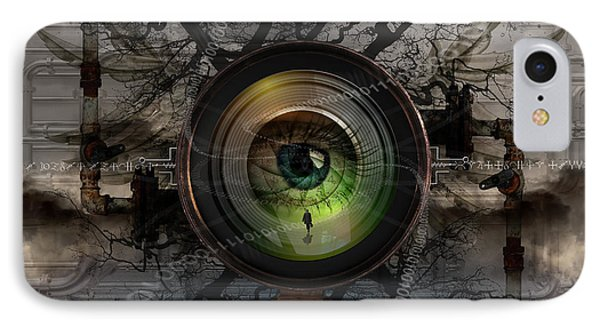 The Camera Eye IPhone Case by Keith Kapple