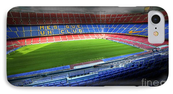The Camp Nou Stadium In Barcelona IPhone Case
