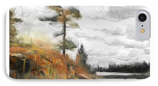 IPhone Case featuring the painting The Canadian Wild by Bob Salo