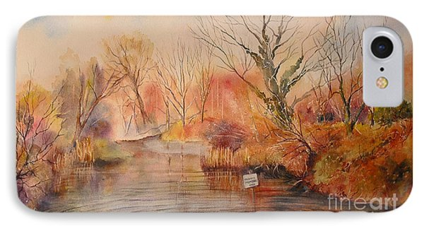 IPhone Case featuring the painting The Canal West Hythe by Beatrice Cloake