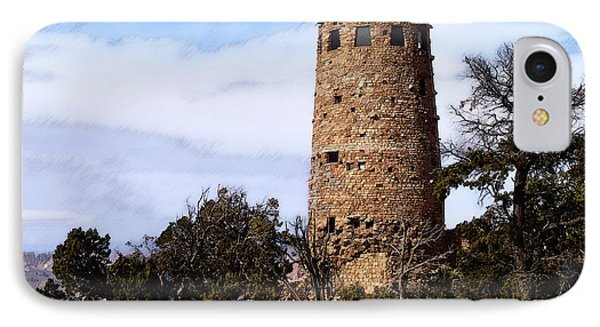The Canyon Watch Tower IPhone Case by David Blank