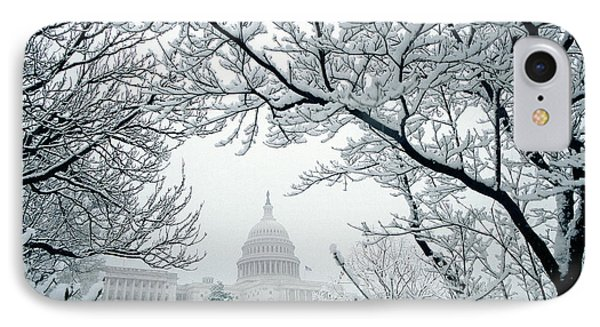 The Capitol In Snow Phone Case by Joe  Connors