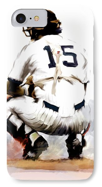 The Captain  Thurman Munson Phone Case by Iconic Images Art Gallery David Pucciarelli