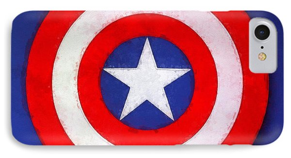 The Captain's Shield IPhone Case by Sandy MacGowan