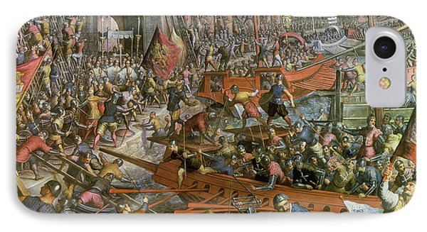 The Capture Of Constantinople In 1204 Phone Case by Jacopo Robusti Tintoretto