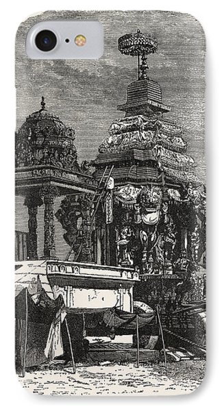 The Car Of Juggernaut. Hindu Ratha Yatra Temple Car IPhone Case by English School